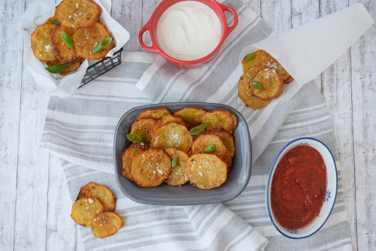 Chips din cartofi la cuptor - foodieopedia.ro