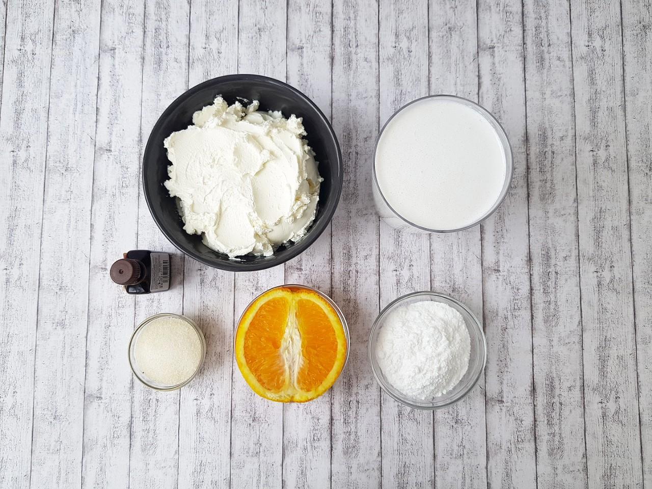 Ingrediente crema de branza Carrot Cake - foodieopedia.ro