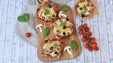 Pizza pe paine ciabatta