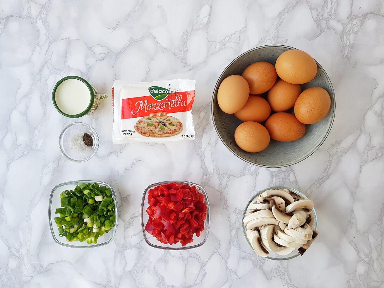 Frittata cu mozzarella si legume - foodieopedia