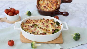 Broccoli gratinat cu bacon