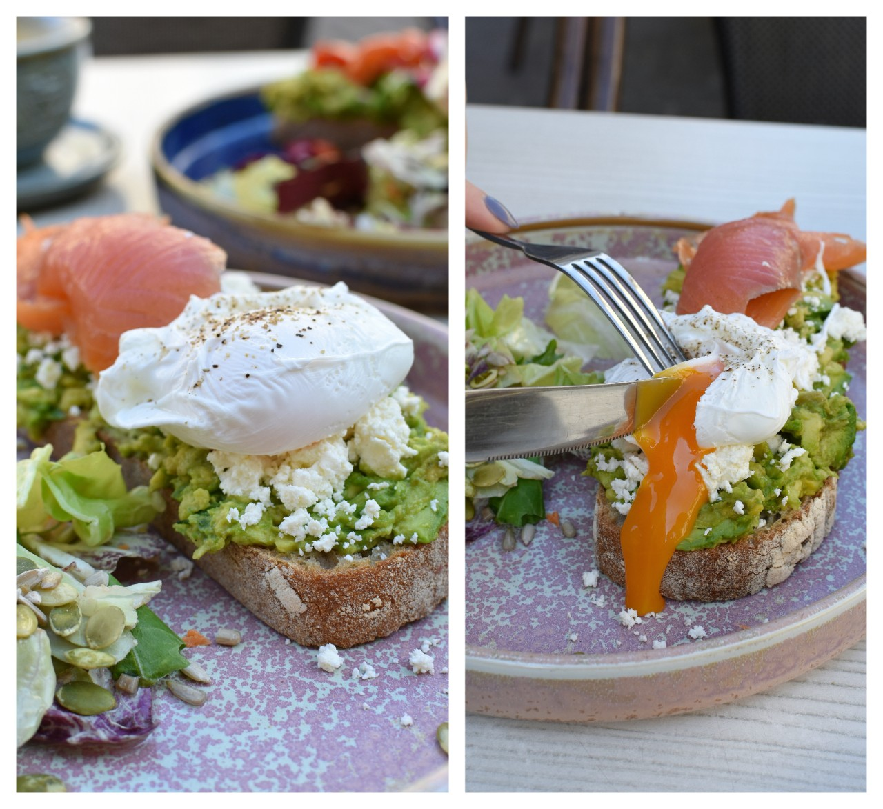 Toast ou posat, avocado, somon afumat -The Dripper Oradea