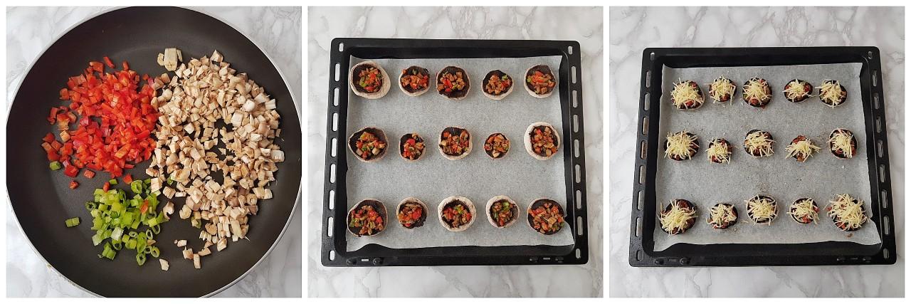 Ciuperci la cuptor cu branza emmentaler - foodieopedia