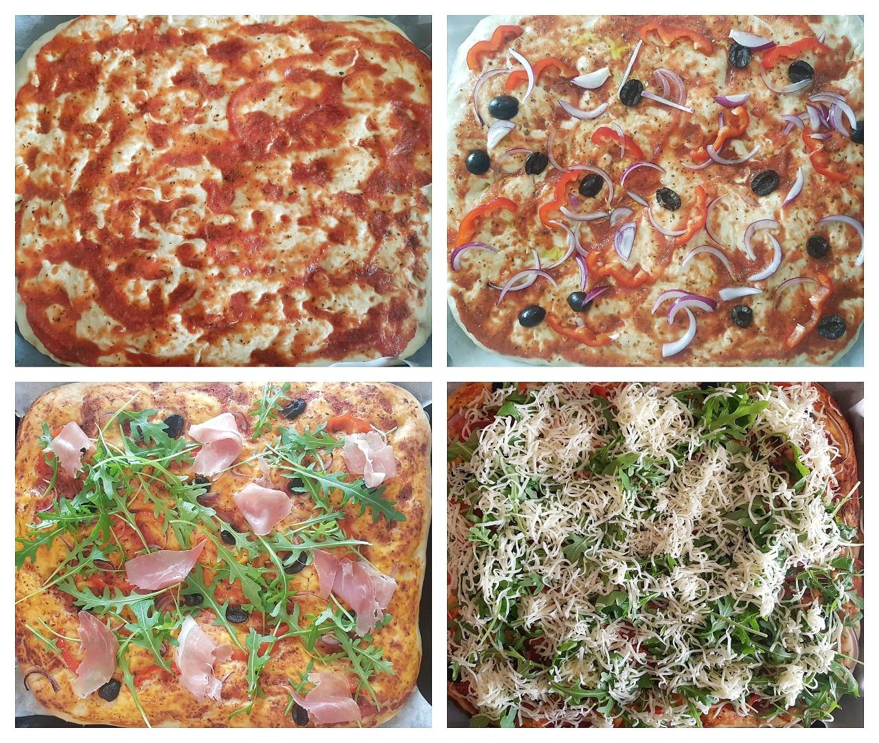 Pizzaccia - pizza pe blat de focaccia - foodieopedia