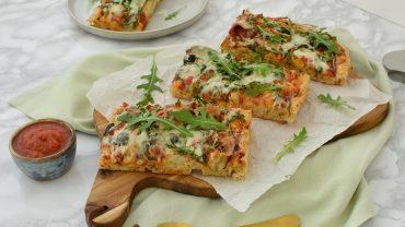 Pizzaccia – pizza pe blat de focaccia