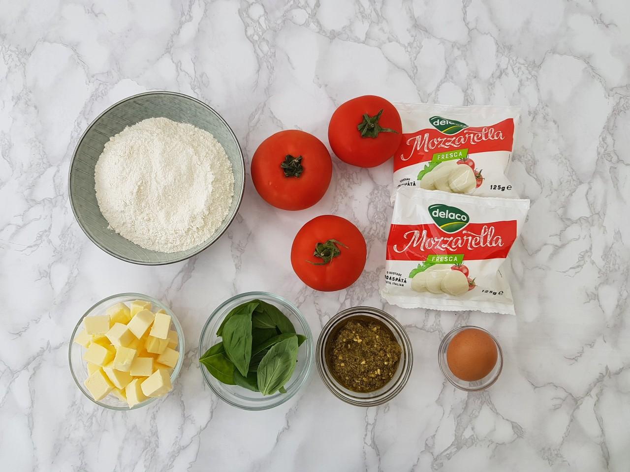 Ingrediente Caprese Galette