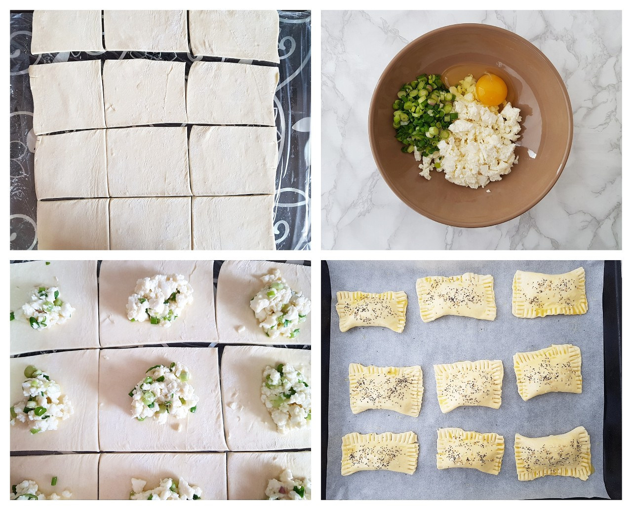Pachetele din foietaj cu telemea - foodieopedia