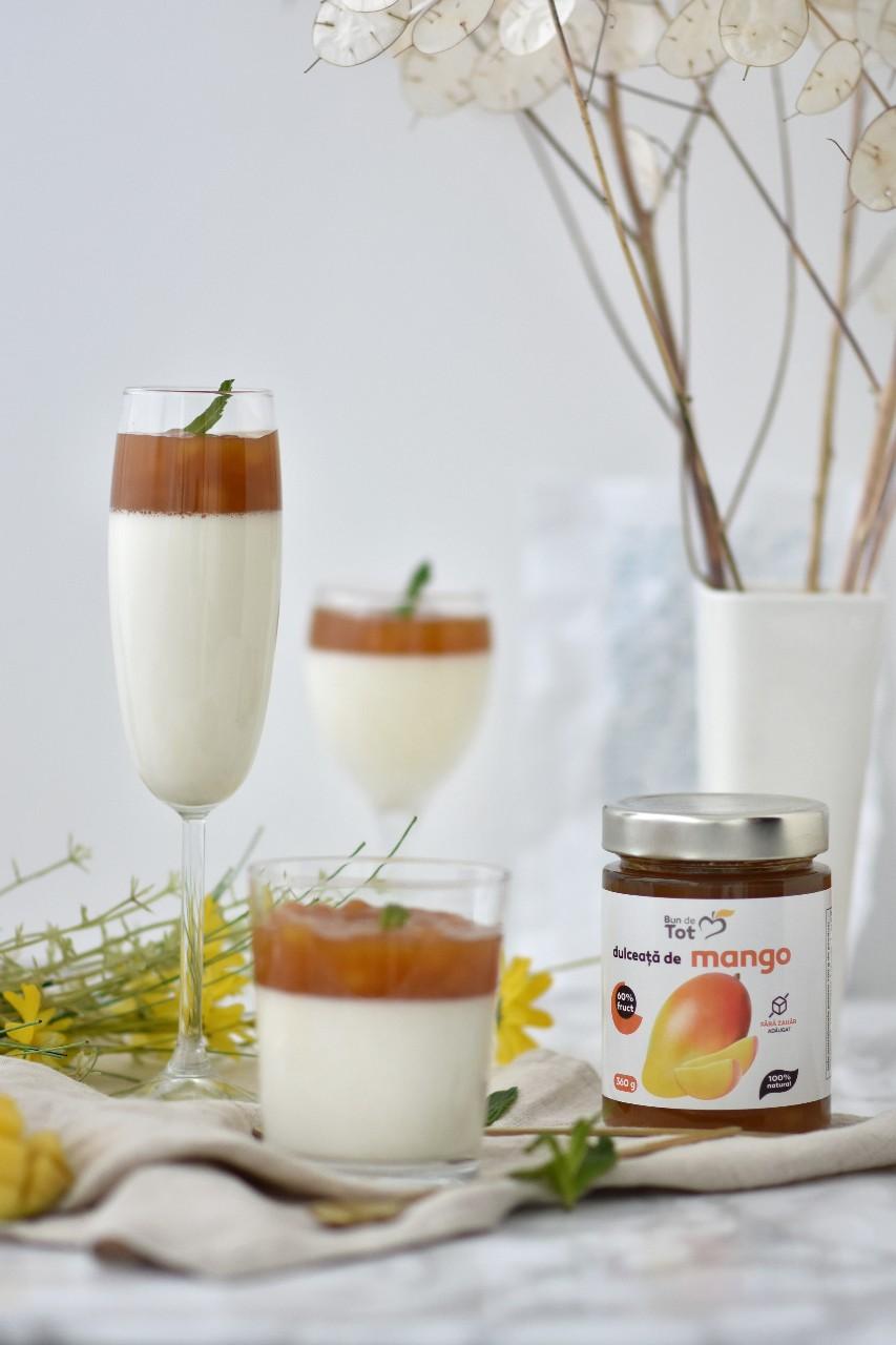 Panna Cotta cu mango - foodieopedia