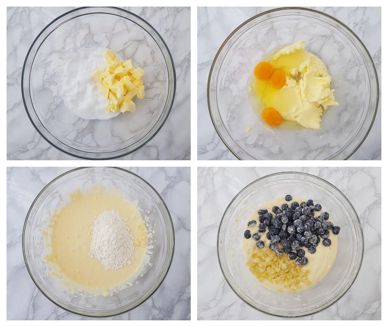 Guguluf cu afine, lamaie si glazura cu apa de trandafiri - foodieopedia