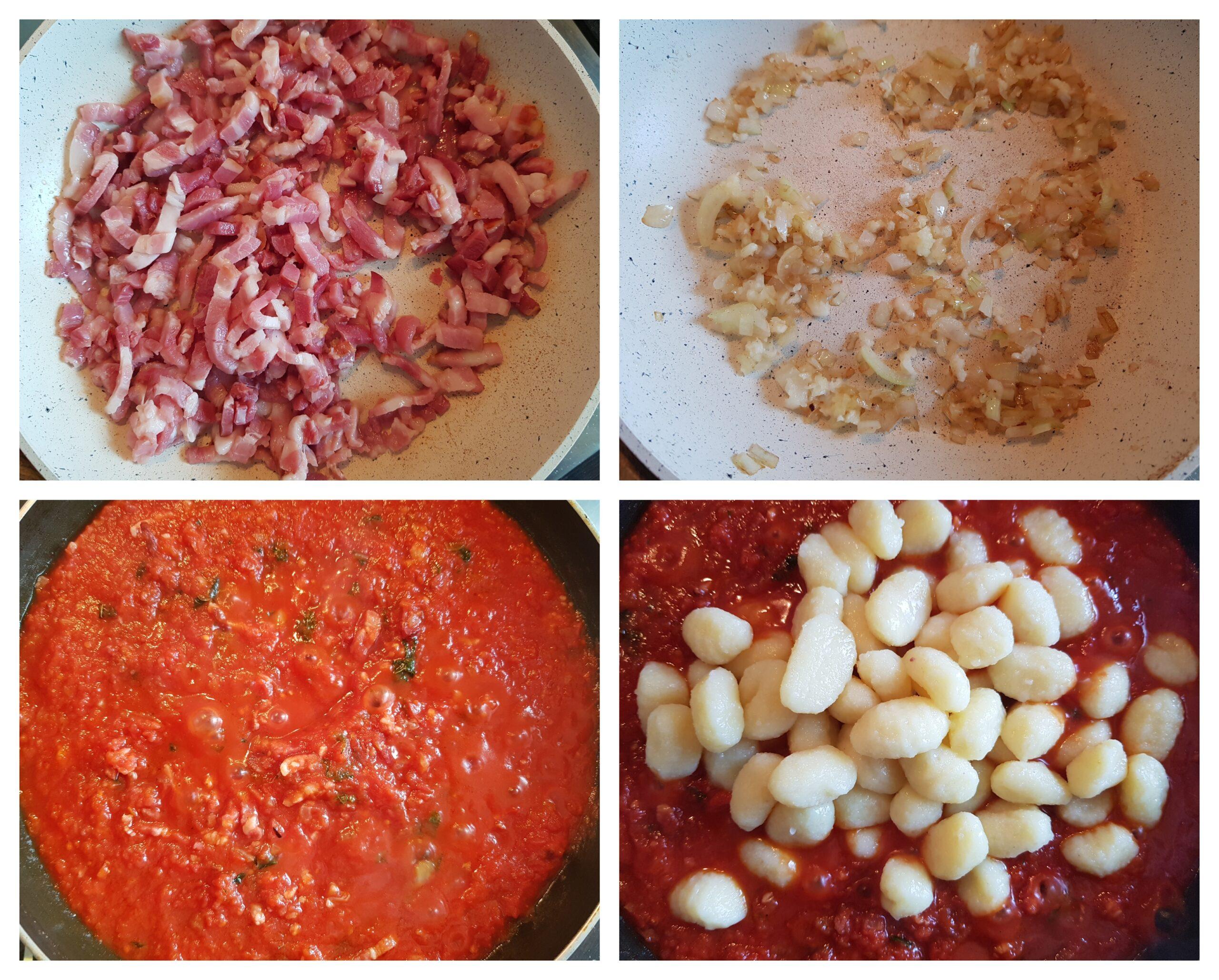 Gnocchi la cuptor cu mozzarella si bacon - foodieopedia